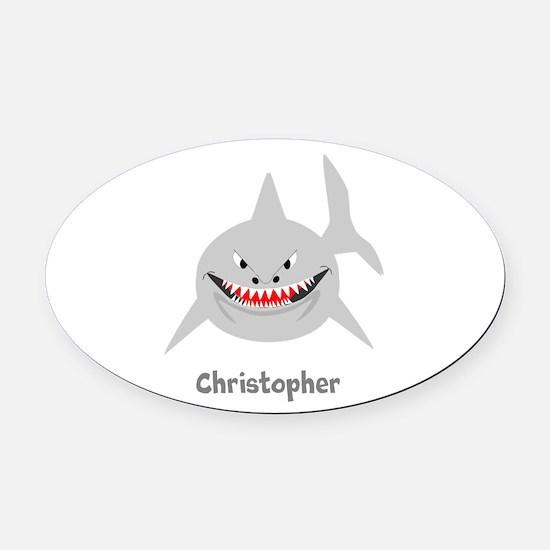Personalized Shark Design Oval Car Magnet