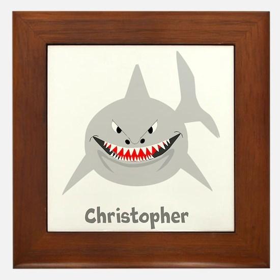 Personalized Shark Design Framed Tile