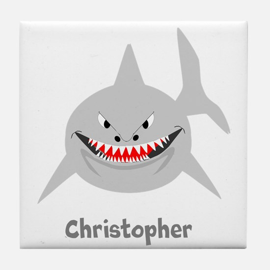 Personalized Shark Design Tile Coaster