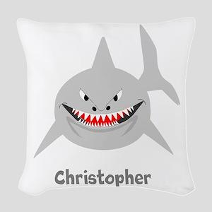 Personalized Shark Design Woven Throw Pillow