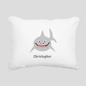 Personalized Shark Design Rectangular Canvas Pillo