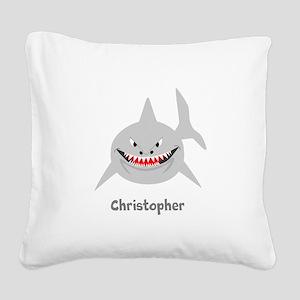 Personalized Shark Design Square Canvas Pillow