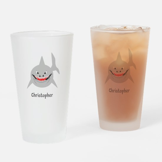 Personalized Shark Design Drinking Glass