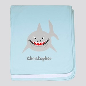 Personalized Shark Design baby blanket