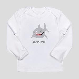 Personalized Shark Design Long Sleeve T-Shirt