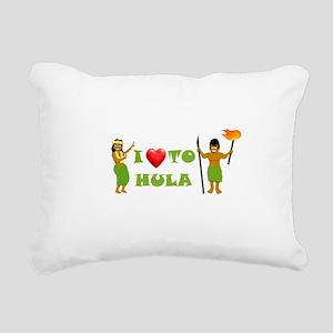 I Love To Hula Rectangular Canvas Pillow