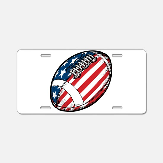 Football Aluminum License Plate