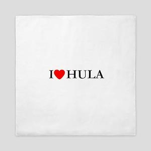 I Love Hula Queen Duvet