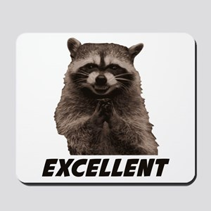 Excellent Evil Plotting Raccoon Mousepad