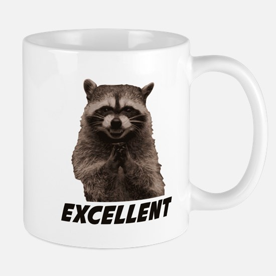 Excellent Evil Plotting Raccoon Mugs