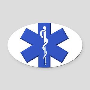 EMT star of life Oval Car Magnet