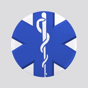 """EMT star of life 3.5"""" Button"""