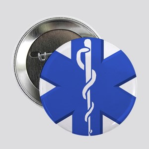 """EMT star of life 2.25"""" Button"""