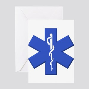 EMT star of life Greeting Cards