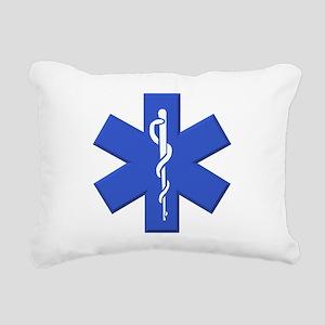 EMT star of life Rectangular Canvas Pillow