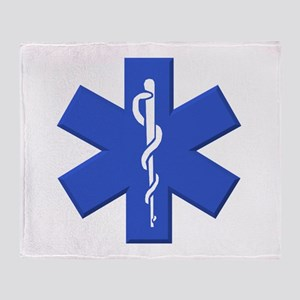 EMT star of life Throw Blanket