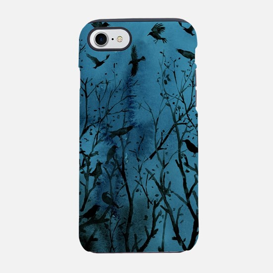 Halloween Crows in Wood iPhone 7 Tough Case