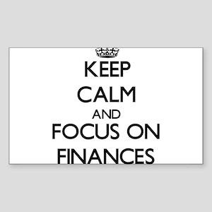 Keep Calm and focus on Finances Sticker