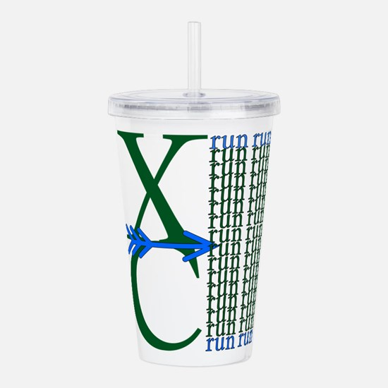 Cool Green cross Acrylic Double-wall Tumbler