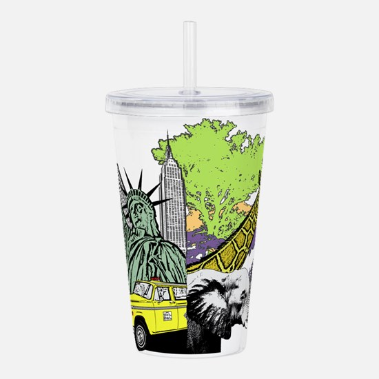 Worlds Apart Acrylic Double-wall Tumbler