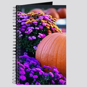Purple flowers and a pumpkin Journal