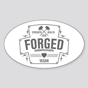 Forged Compassion Vegan Sticker (Oval)