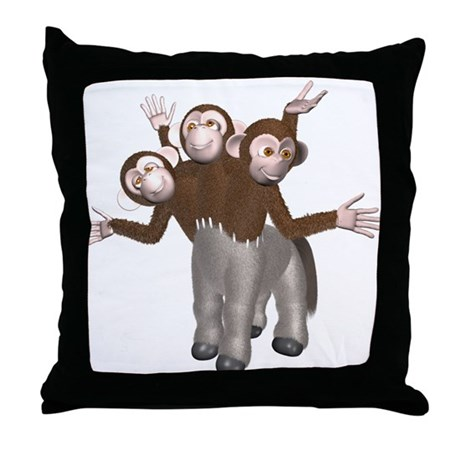 Ponkey Throw Pillow