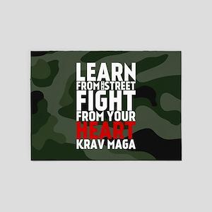 Learn From The Street Krav Maga 5'x7'Area Rug