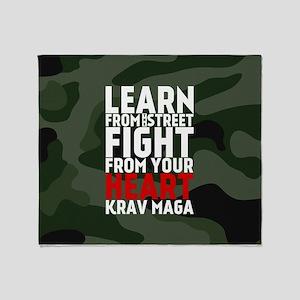 Learn From The Street Krav Maga Throw Blanket