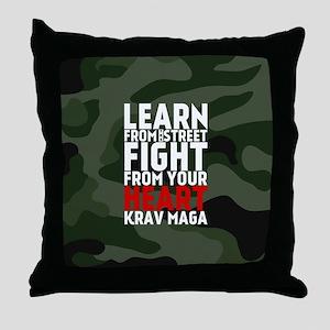 Learn From The Street Krav Maga Throw Pillow