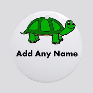 Turtle Design - Add Your Name! Ornament (Round)