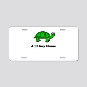 Turtle Design - Add Your Name! Aluminum License Pl