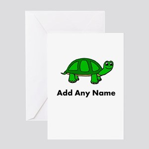 Turtle Design - Add Your Name! Greeting Cards