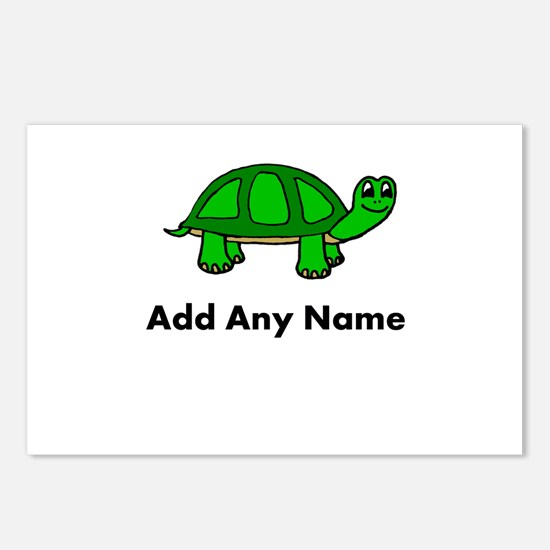 Turtle Design - Add Your Name! Postcards (Package