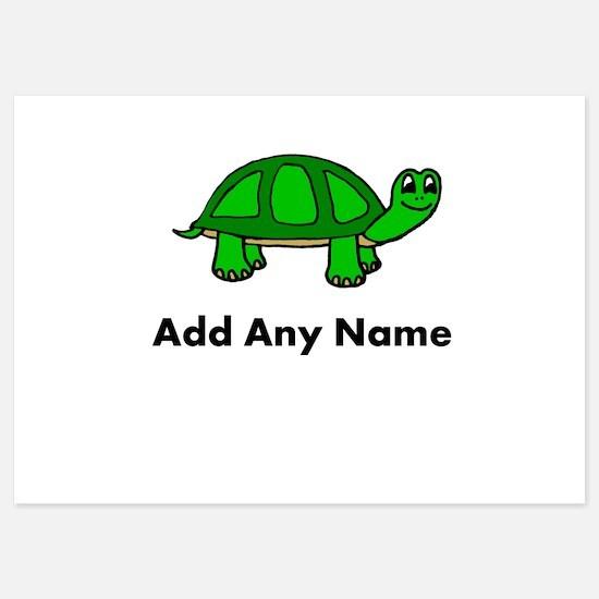 Turtle Design - Add Your Name! Invitations