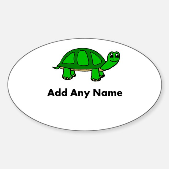 Turtle Design - Add Your Name! Decal