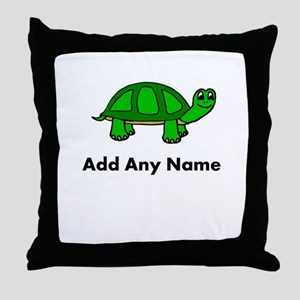 Turtle Design - Add Your Name! Throw Pillow