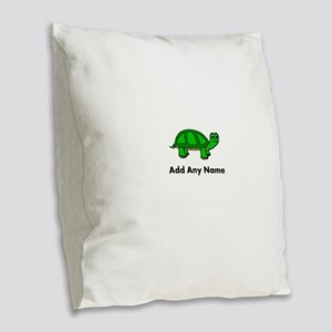 Turtle Design - Add Your Name! Burlap Throw Pillow