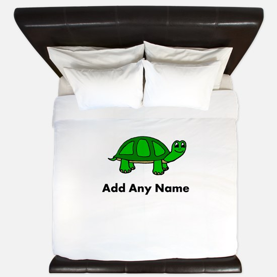 Turtle Design - Add Your Name! King Duvet