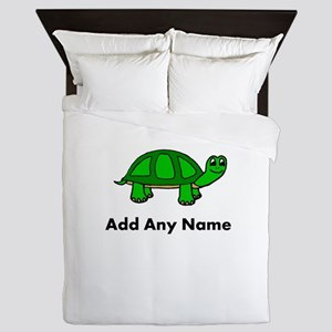 Turtle Design - Add Your Name! Queen Duvet