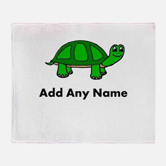 Turtle Design - Add Your Name! Throw Blanket