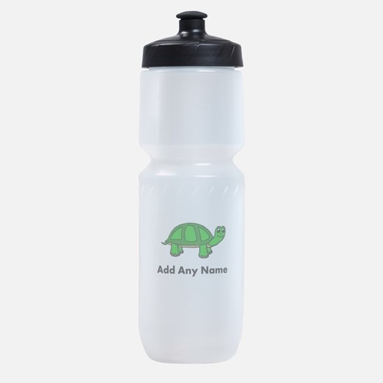 Turtle Design - Add Your Name! Sports Bottle