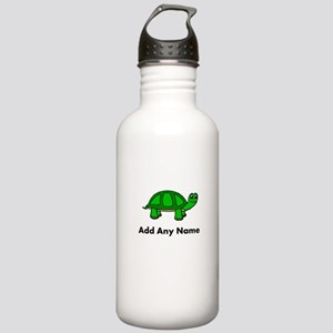Turtle Design - Add Your Name! Water Bottle