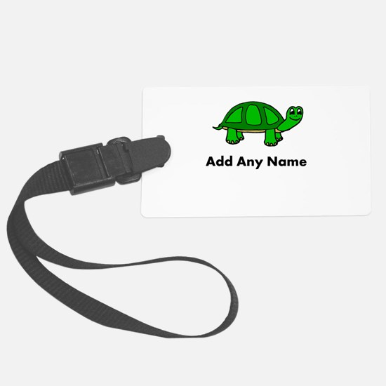 Turtle Design - Add Your Name! Luggage Tag