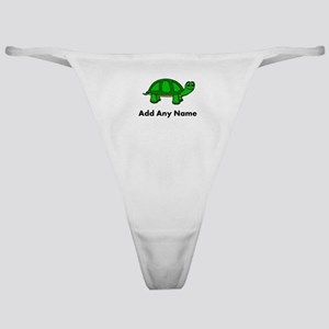 Turtle Design - Add Your Name! Classic Thong