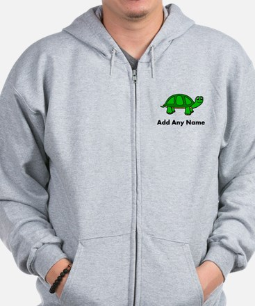 Turtle Design - Add Your Name! Zip Hoodie