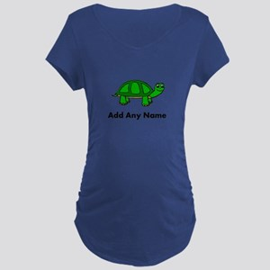 Turtle Design - Add Your Name! Maternity T-Shirt