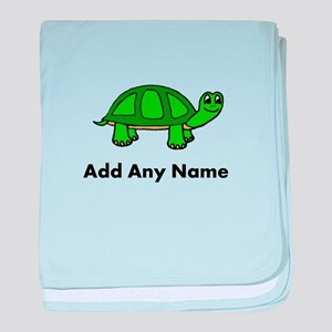Turtle Design - Add Your Name! baby blanket