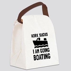 Work Sucks Boating Canvas Lunch Bag
