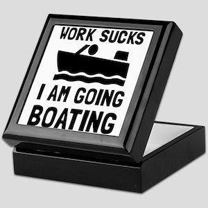 Work Sucks Boating Keepsake Box
